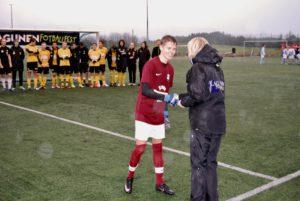 Sædalens spiller nummer 26, Anders Nilsen, ble utnevnt av juryen til banens beste.